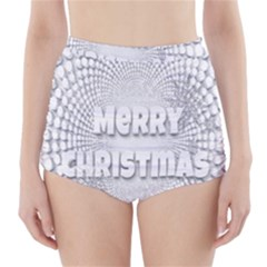 Oints Circle Christmas Merry High-Waisted Bikini Bottoms
