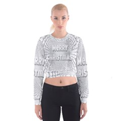 Oints Circle Christmas Merry Women s Cropped Sweatshirt