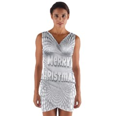 Oints Circle Christmas Merry Wrap Front Bodycon Dress