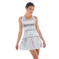 Oints Circle Christmas Merry Cotton Racerback Dress
