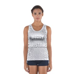 Oints Circle Christmas Merry Women s Sport Tank Top