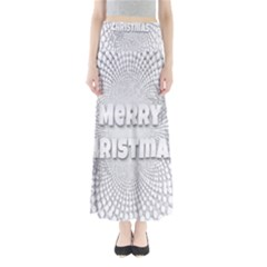 Oints Circle Christmas Merry Maxi Skirts