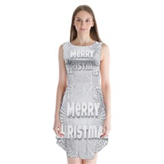 Oints Circle Christmas Merry Sleeveless Chiffon Dress