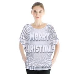 Oints Circle Christmas Merry Blouse