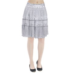 Oints Circle Christmas Merry Pleated Skirt