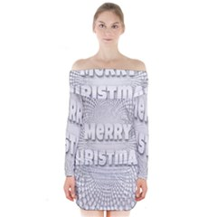 Oints Circle Christmas Merry Long Sleeve Off Shoulder Dress
