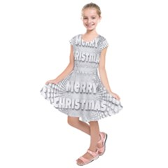 Oints Circle Christmas Merry Kids  Short Sleeve Dress
