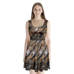 Night View Split Back Mini Dress