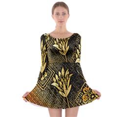 Orange Paper Patterns For Scrapbooking Long Sleeve Skater Dress