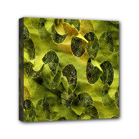 Olive Seamless Camouflage Pattern Mini Canvas 6  x 6