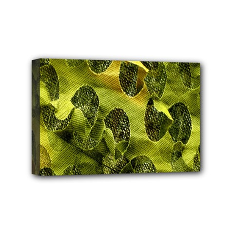 Olive Seamless Camouflage Pattern Mini Canvas 6  X 4