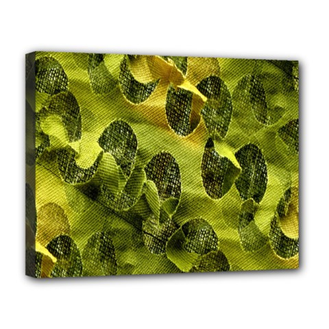 Olive Seamless Camouflage Pattern Canvas 14  x 11