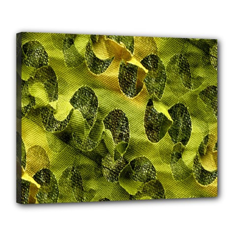 Olive Seamless Camouflage Pattern Canvas 20  X 16