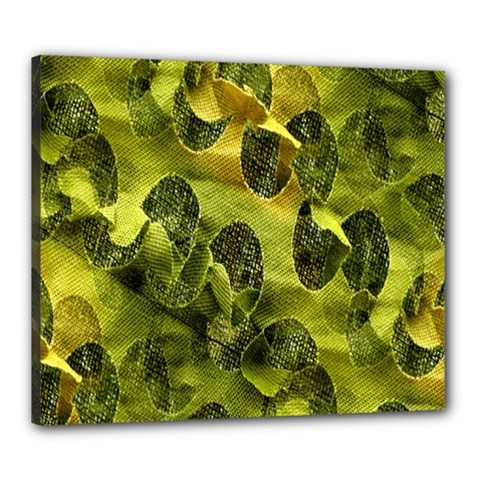 Olive Seamless Camouflage Pattern Canvas 24  x 20