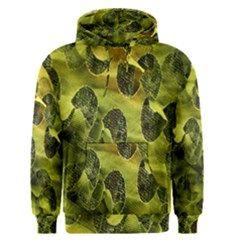 Olive Seamless Camouflage Pattern Men s Pullover Hoodie