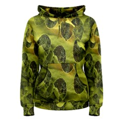 Olive Seamless Camouflage Pattern Women s Pullover Hoodie