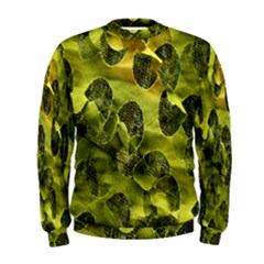 Olive Seamless Camouflage Pattern Men s Sweatshirt