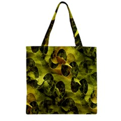 Olive Seamless Camouflage Pattern Zipper Grocery Tote Bag
