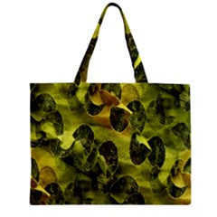 Olive Seamless Camouflage Pattern Zipper Mini Tote Bag