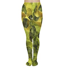 Olive Seamless Camouflage Pattern Women s Tights