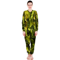 Olive Seamless Camouflage Pattern OnePiece Jumpsuit (Ladies)