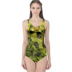 Olive Seamless Camouflage Pattern One Piece Swimsuit