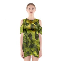 Olive Seamless Camouflage Pattern Shoulder Cutout One Piece