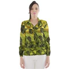 Olive Seamless Camouflage Pattern Wind Breaker (Women)