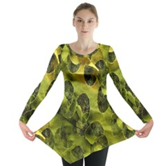 Olive Seamless Camouflage Pattern Long Sleeve Tunic
