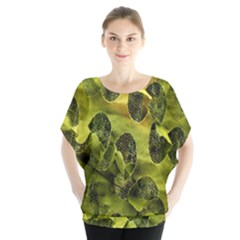 Olive Seamless Camouflage Pattern Blouse