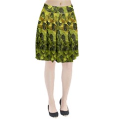 Olive Seamless Camouflage Pattern Pleated Skirt