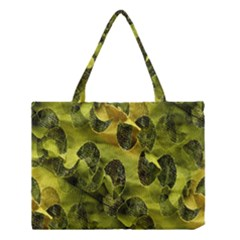 Olive Seamless Camouflage Pattern Medium Tote Bag