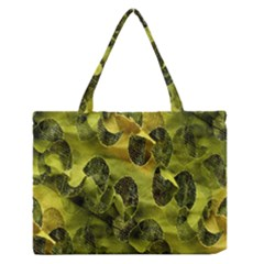 Olive Seamless Camouflage Pattern Medium Zipper Tote Bag