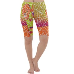 Orange Guy Spider Web Cropped Leggings