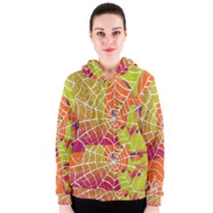 Orange Guy Spider Web Women s Zipper Hoodie