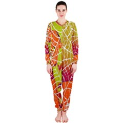Orange Guy Spider Web Onepiece Jumpsuit (ladies)