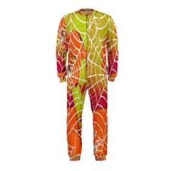 Orange Guy Spider Web Onepiece Jumpsuit (kids)