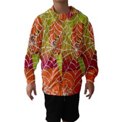 Orange Guy Spider Web Hooded Wind Breaker (kids)