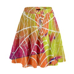 Orange Guy Spider Web High Waist Skirt