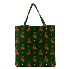 Paisley Pattern Grocery Tote Bag