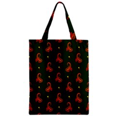 Paisley Pattern Zipper Classic Tote Bag