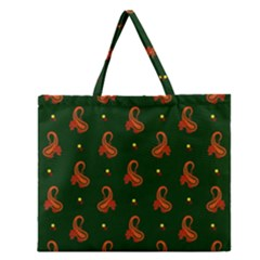 Paisley Pattern Zipper Large Tote Bag