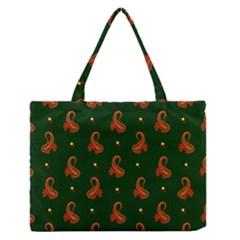 Paisley Pattern Medium Zipper Tote Bag