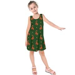 Paisley Pattern Kids  Sleeveless Dress