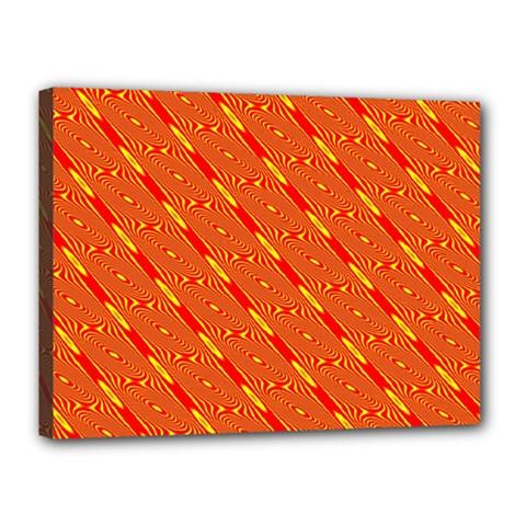 Orange Pattern Background Canvas 16  X 12