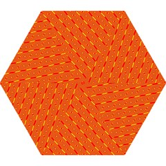 Orange Pattern Background Mini Folding Umbrellas