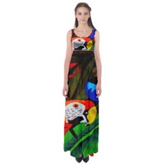 Papgei Red Bird Animal World Towel Empire Waist Maxi Dress