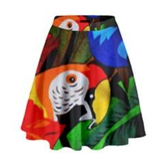 Papgei Red Bird Animal World Towel High Waist Skirt
