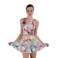 Owl Bird Cute Pattern Mini Skirt