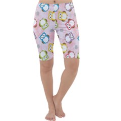 Owl Bird Cute Pattern Cropped Leggings
